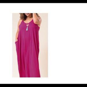 Dresses & Skirts - Maxi Dress (Magenta)